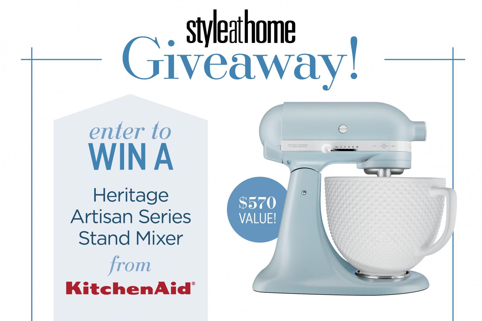 Kitchenaid Stand Mixer Giveaway Dec Issue